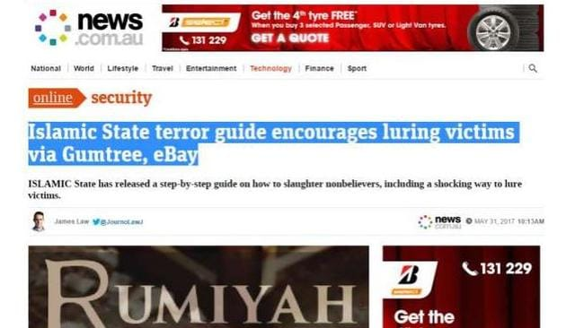 islamic state terror guide encourages luring victims via gumtree ebay