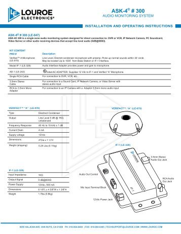 euromaid cc64 installation & operating guide
