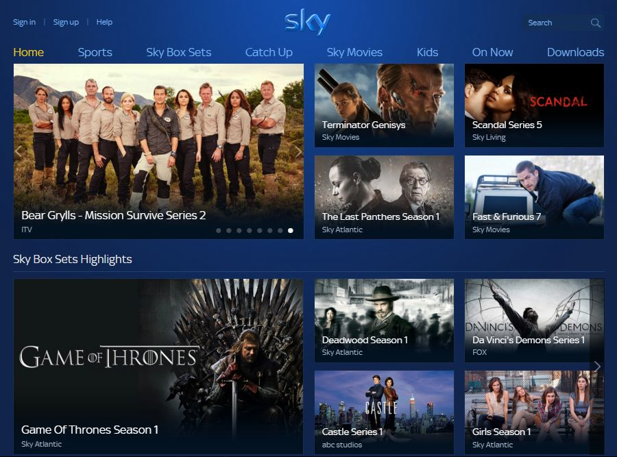 sky go sports tv guide
